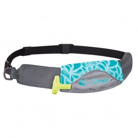 Onyx M-16 Manual Inflatable Belt Pack -PFD- - Aqua-Grey