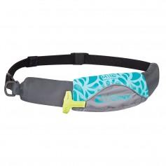 Onyx M-16 Manual Inflatable Belt Pack -PFD- - Aqua-Grey