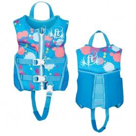 Full Throttle Hinged Rapid-Dry Flex-Back Life Vest - Child 30-50lbs - Aqua