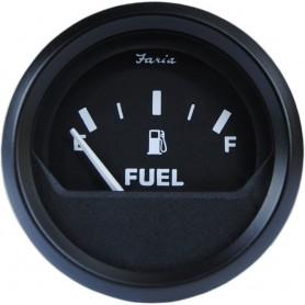 Faria 2- Fuel Level Gauge Metric - Euro Black