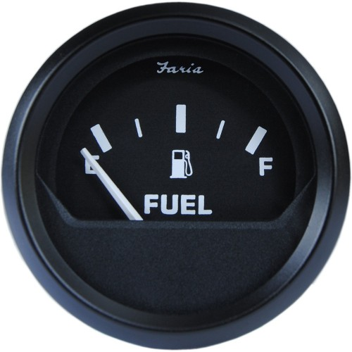 Faria 2- Fuel Level Gauge Metric - Euro Black