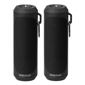Boss Audio Bolt Marine Bluetooth Portable Speaker System w-Flashlight - Pair - Black