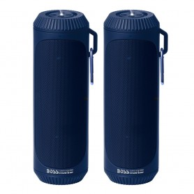 Boss Audio Bolt Marine Bluetooth Portable Speaker System with Flashlight - Pair - Blue