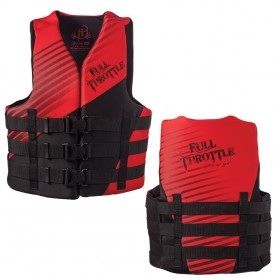 Full Throttle Adult Rapid Dry PFD - L-XL - Red-Black