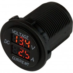 Sea-Dog Round Voltage Amp Meter - 6V-30V 0 Amp - 10 Amp Meter
