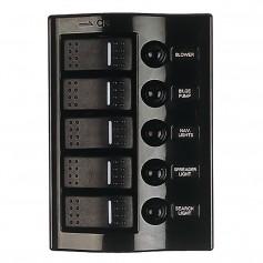 Sea-Dog Nylon Circuit Breaker Panel - 5 Circuit - Wave Style