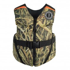 Mustang Rev Youth Foam Vest - 55-88lbs - Mossy Oak-Shadow Grass Blades