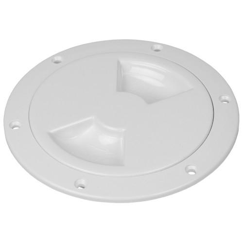 Sea-Dog Quarter-Turn Smooth Deck Plate w-Internal Collar - White - 4-