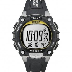 Timex Ironman Traditional 100-Lap - Black-Silver-Yellow Watch