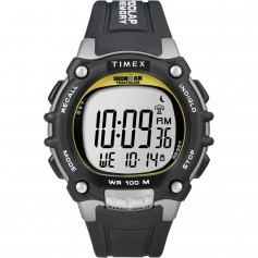 Timex Ironman Traditional 100-Lap - Black-Silver-Yellow Watch