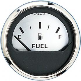 Faria 2- Fuel Level Gauge -E-1-2-F- - Spun Silver