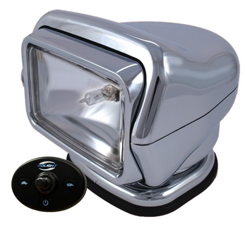 Golight HID Stryker Searchlight w-Wired Dash Remote - Permanent Mount - Chrome