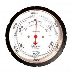 BARIGO Handheld Altimeter w-Case - 6-000M Standard Dial