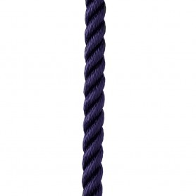 New England Ropes 1-2- X 15 Premium Nylon 3 Strand Dock Line - Navy Blue