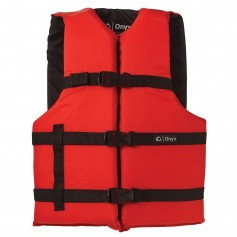 Onyx Nylon General Purpose Life Jacket - Adult Oversize - Red