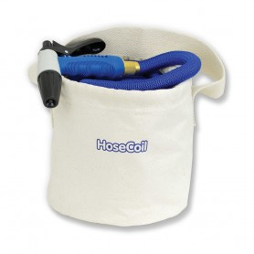 HoseCoil Canvas Bucket f-75 Expandable Hose Kit