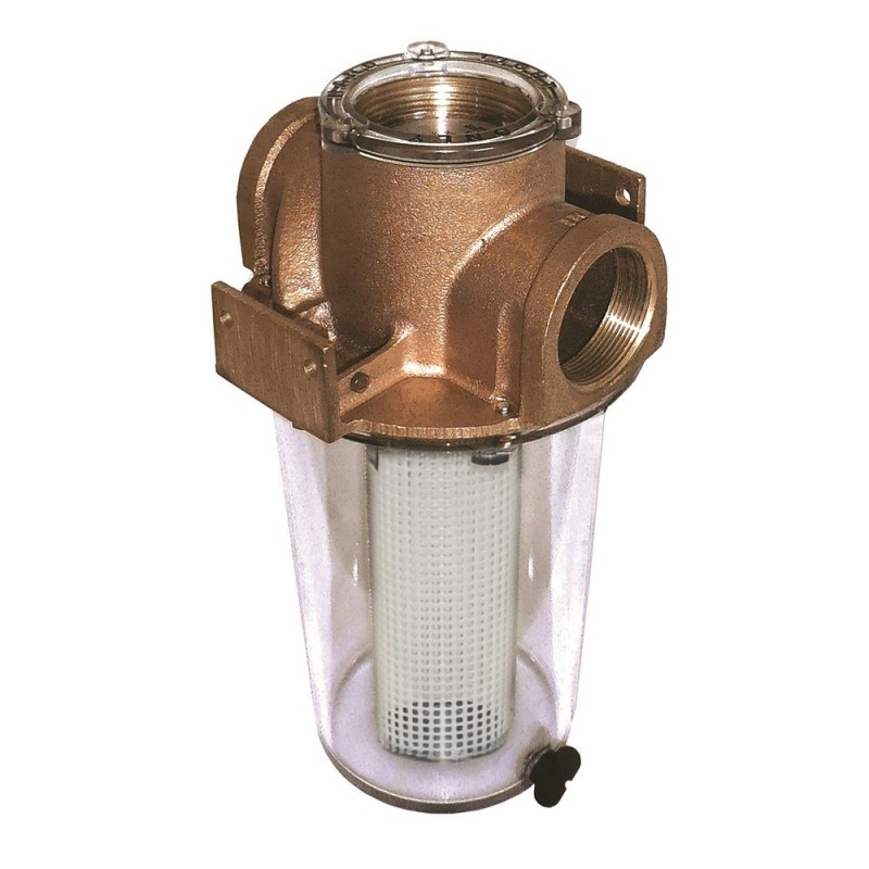 GROCO ARG-1500 Series 1-1-2- Raw Water Strainer w-Non-Metallic Plastic Basket