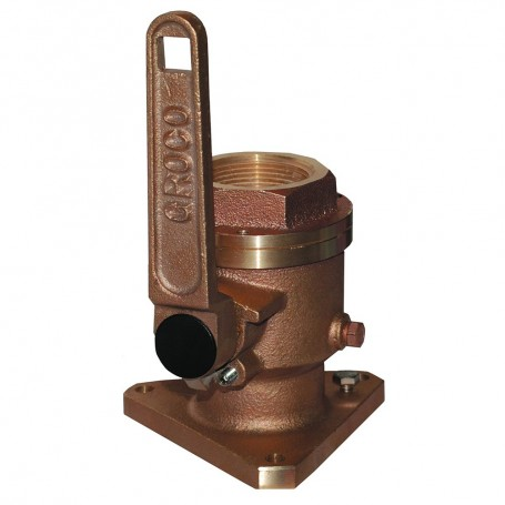 GROCO 1-1-4- Bronze Flanged Full Flow Seacock