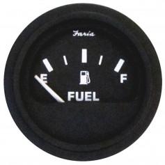 Faria 2- Heavy-Duty Fuel Level Gauge - Black w-Black Bezel