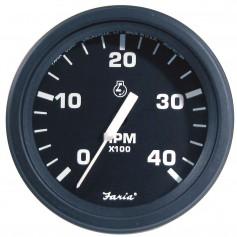 Faria 4- HD Tachometer -4000 RPM- Diesel -Mech Takeoff Var Ratio Alt- - Black