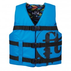 Full Throttle Youth Nylon Life Vest - 50-90lbs - Blue