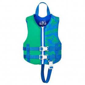 Full Throttle Rapid-Dry Life Vest - Child 30-50lbs - Blue-Green