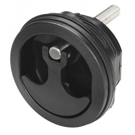 Whitecap Compression Handle Black Nylon Non-Locking - 1-4 Turn