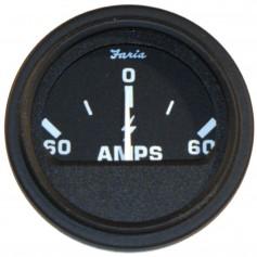 Faria 2- Heavy-Duty Ammeter -60-0-60- - Black