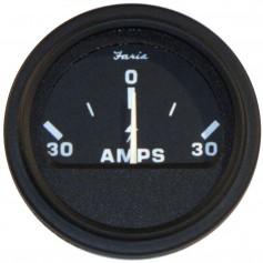 Faria 2- Heavy-Duty Ammeter -30-0-30- - Black