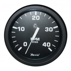 Faria 4- Heavy-Duty Tachometer -4000 RPM- Diesel -Mag P-U- - Black -Bulk Case of 12-