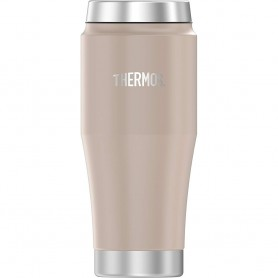 Thermos Vacuum Insulated Stainless Steel Travel Tumbler - 16oz - Matte Stone Gray