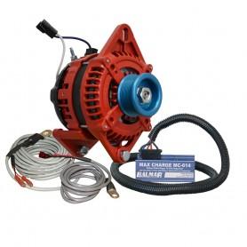 Balmar Alternator 3-15- Dual Foot Saddle J10 Serpentine Pulley Regulator Temp Sensor - 170A Kit - 12V