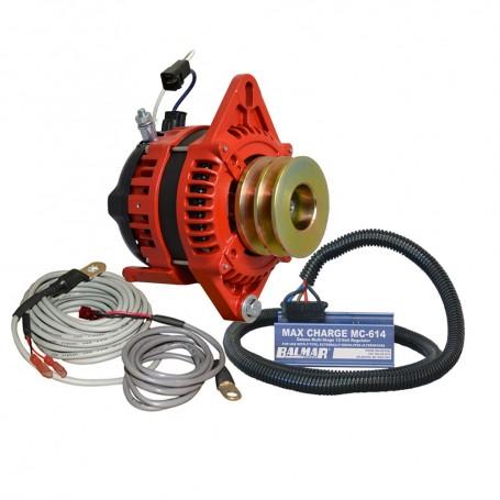 Balmar Alternator 1-2- Single Foot Dual V Pulley Regulator Temp Sensor - 170A Kit - 12V