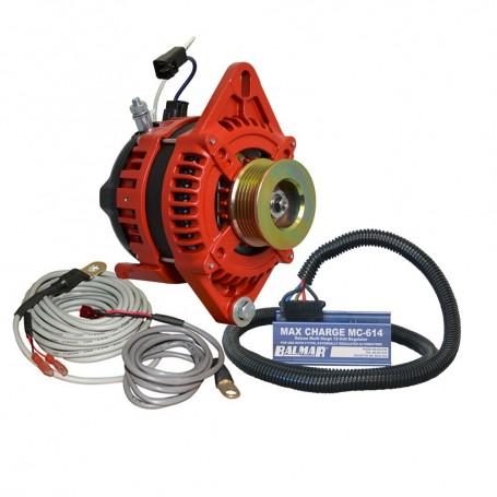 Balmar Alternator 1-2- Single Foot K6 Serpentine Pulley Regulator Temp Sensor - 170A Kit - 12V