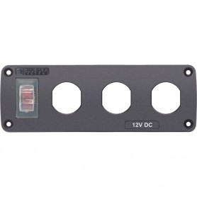 Blue Sea 4367 Water Resistant USB Accessory Panel - 15A Circuit Breaker- 3x Blank Apertures