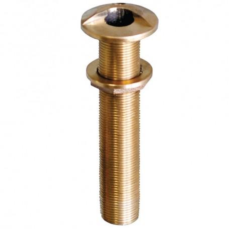 GROCO 1-1-4- Bronze Extra Long High Speed Thru-Hull Fitting w-Nut