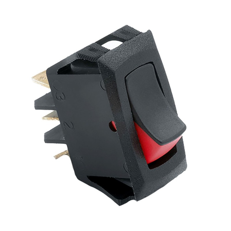 Cole Hersee Narrow Body Curved Rocker Switch SPST On-Off 3 Blade