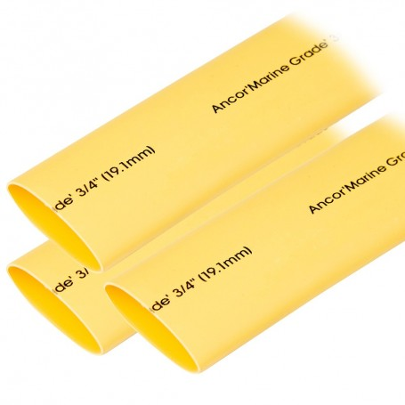 Ancor Heat Shrink Tubing 3-4- x 3- - Yellow - 3 Pieces