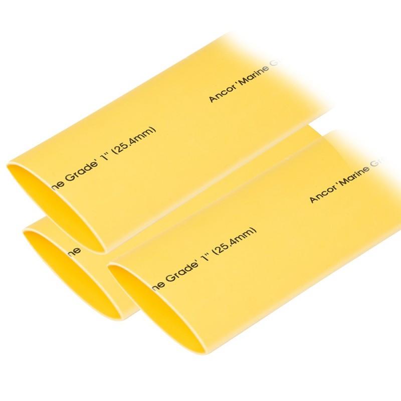 Ancor Heat Shrink Tubing 1- x 3- - Yellow - 3 Pieces