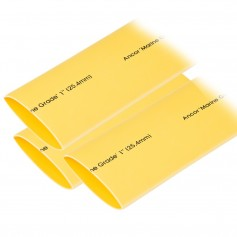 Ancor Heat Shrink Tubing 1- x 12- - Yellow - 3 Pieces