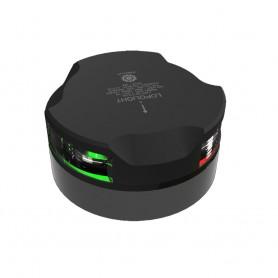 Lopolight Tri-Color Navigation Light - 1nm-112-5 - 112-5 - Black Housing - Single - Horizontal Mount