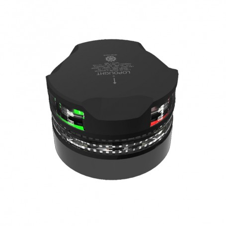Lopolight Tri-Color Navigation Light with Strobe - 1nm - Black Housing
