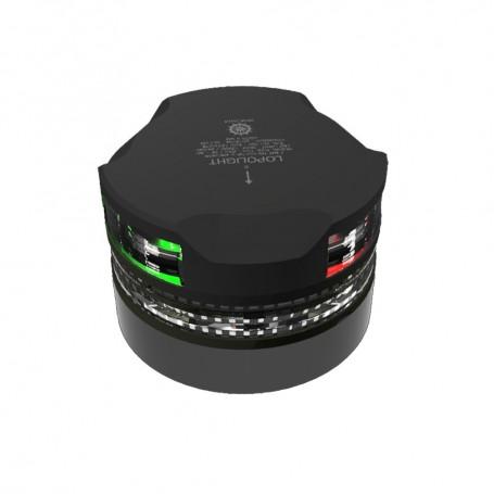 Lopolight Tri-Color Navigation Light w-Anchor Light Strobe - 2nm - Black Housing