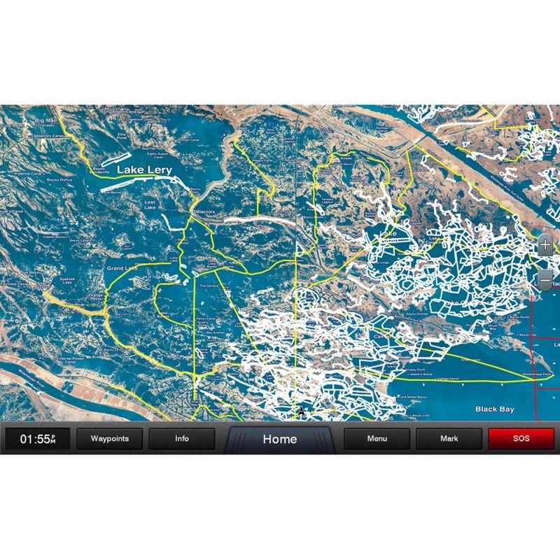 Garmin Standard Mapping - Louisiana East Professional microSD-SD Card