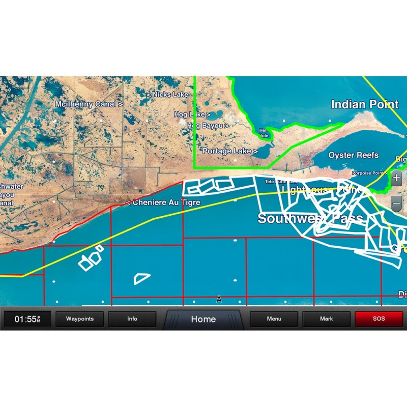 Garmin Standard Mapping - Louisiana West Professional microSD-SD Card