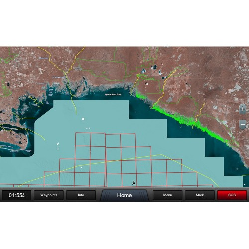 Garmin Standard Mapping - Gulf Coast Professional microSD-SD Card