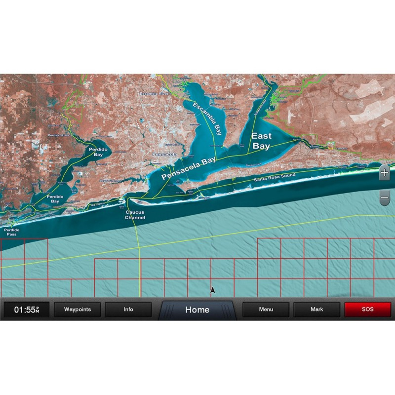 Garmin Standard Mapping - Emerald Coast Premium microSD-SD Card