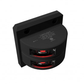 Lopolight Double Port SideLight - Vertical Mount - Black Housing - 3nm - Red