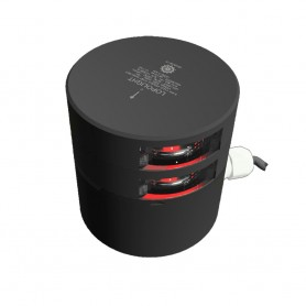 Lopolight Double Red Port Sidelight - 3nm - Black Housing - Horizontal Mount