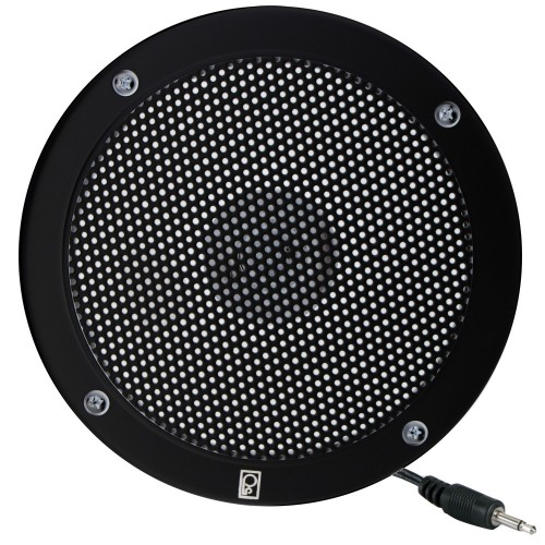 Poly-Planar 5- VHF Extension Speaker - Flush Mount - -Single- Black